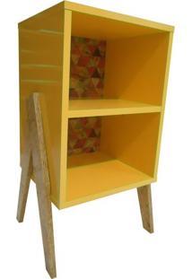 Estante Rústica 0378 Phorman 100% Mdf - Amarelo/Triângulo Color