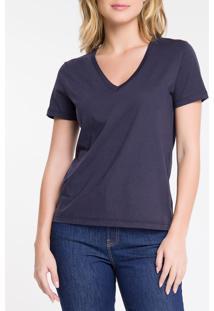 Blusa Feminina Essentials Gola V Marinho Calvin Klein Jeans - Pp