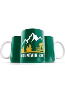 Caneca Punnto Mountain Bike - Unissex-Verde+Amarelo