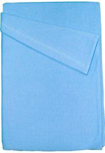 Lençol Para Berço 3 Peças Baby Deluxe Azul Liso