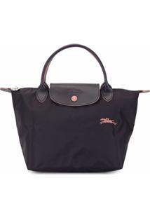 Longchamp Bolsa Tote Clássica - Roxo