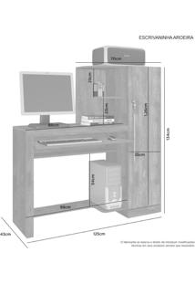 Escrivaninha Office Aroeira Jcm Movelaria -Nobre Soft