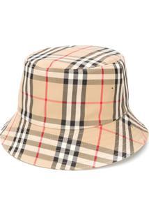 Burberry Chapéu Bucket Xadrez - Neutro