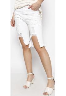 Bermuda Soraia Em Sarja - Branca - Le Lis Blancle Lis Blanc