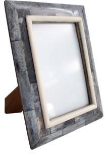 Porta Retrato Ethnix Kristal 13X18 Branco/Cinza