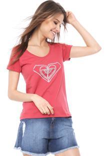 Camiseta Roxy So Lines Vermelha
