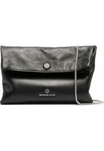 Michael Michael Kors Foldover Top Shoulder Bag - Preto