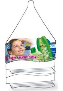 Porta Shampoo Duplo De Pendurar Cromado