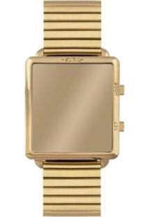 Relógio Euro Digital 36Mm Aço Feminino - Feminino-Dourado