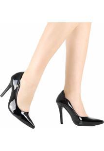 Sapato Scarpin Via Marte Bico Fino Preto