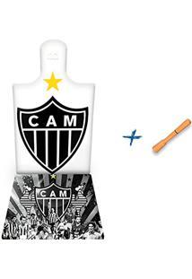 Kit Caipirinha Mini Tábua + Porta Copos + Pilão - Meu Time Do Coração (Bd09)