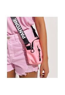 Bolsa Feminina Pantone Com Zíper Rosa