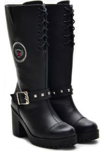 Bota Top Franca Shoes Motoqueira Feminina - Feminino