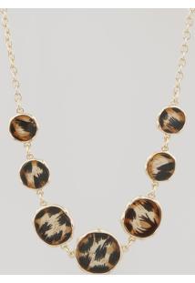 Colar Feminino Animal Print Dourado - Único