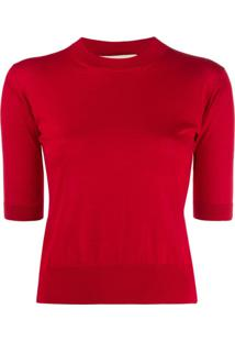 Marni Blusa De Tricô Com Decote Arredondado - Vermelho