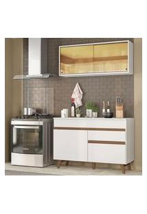 Cozinha Compacta Madesa Reims 120001 Com Armário E Balcão Branco Cor:Branco