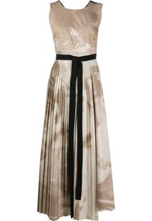 Roksanda Vestido Calixa Tie-Dye - Neutro