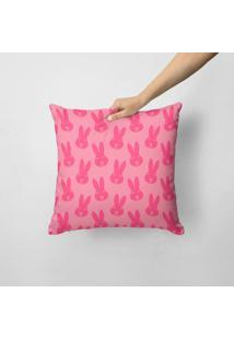 Capa De Almofada Multi Coelhinho Pink 45X45Cm