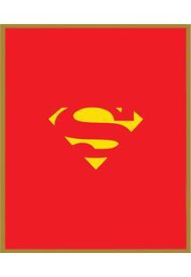 Quadro Decorativo Super Herã³Is- Dourado & Vermelho- Arte Prã³Pria