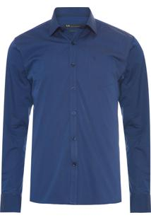 Camisa Masculina Urban Regular - Azul