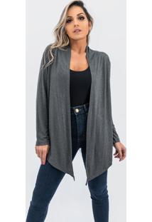 Cardigan Kimono Plus Size Juquitiba Brasil Cinza