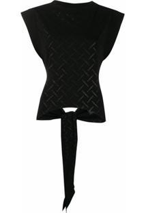 Marcelo Burlon County Of Milan Blusa Com Recorte Vazado E Logo - Preto
