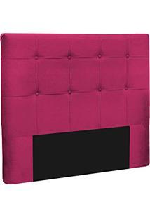 Cabeceira Slim Casal 140Cm Decor Magazine Suede Pink