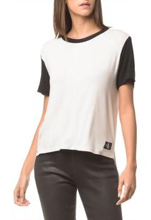 Blusa Ckj Fem Mc Recortes - Off White - Pp