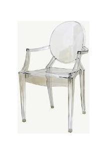Cadeira Princess Transparente Pc Or Design 1106 - Transparente