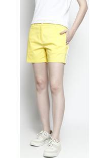 288f24f2c6930 Short Amarelo Reto feminino   Shoelover