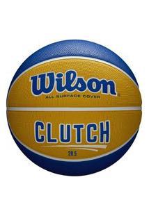 Bola De Basquete Wilson Clutch Wtb14199Xb07, Cor: Azul/Amarelo, Tamanho: 7