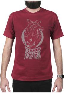 Camiseta Bleed American Medusa Vinho