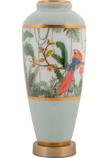 Vaso Decorativo De Cristal E Bronze Vi - Linha Botanique