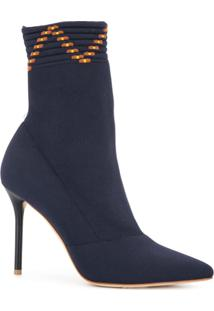 Malone Souliers By Roy Luwolt Ankle Boot Meia De Couro - Azul