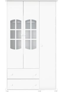 Guarda-Roupa 3 Portas Mamma Branca-Acetinado Matic Móveis