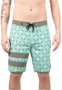Bermuda Boardshort Hurley Phantom Black Party Drum Circle - Masculino-Verde