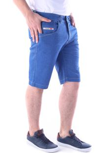 Bermuda Traymon 653 Jeans Azul Indigo Modelagem Slim