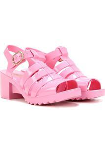 Sandália Petite Jolie Flora Feminina - Feminino-Pink