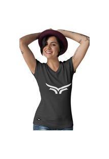Camiseta Feminina Gola V Cellos Bull Classic Premium W Preto