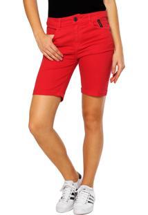 Bermuda Sarja Ellus 2Nd Floor Soft Color Vermelha