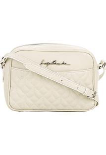 988b004451 ... Bolsa Couro Luiza Barcelos Mini Bag Matelassê Feminina - Feminino-Off  White