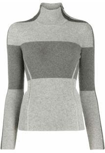 Polo Ralph Lauren Blusa Color Block De Lã Merino - Cinza