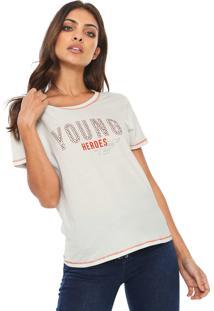 Camiseta Ellus Fine Young Heroes Off-White