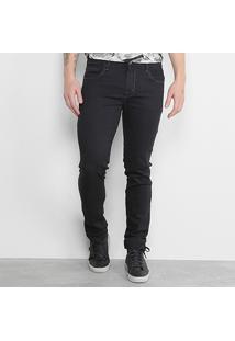 Calça Jeans Skinny Triton Ultra Masculina - Masculino-Preto