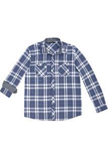 Camisa Masculina Slim Em Tecido De Algodão