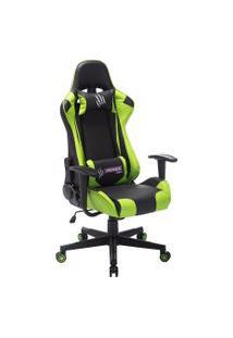 Cadeira Giratória Predator Trevalla Gamer Tl-Cdg-08-10Pr Preta E Verde