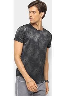 Camiseta Watkins&Krown Letras Masculina - Masculino-Preto