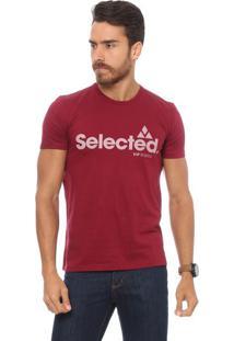 "Camiseta ""Selected"" - Bordô & Brancavip Reserva"