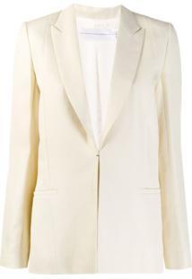 Victoria Victoria Beckham Blazer Com Abotoamento Simples - Neutro