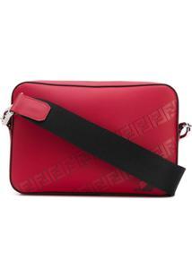 Fendi Bolsa Transversal Com Estampa De Logo - Vermelho
